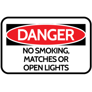 Danger: Open Flame Sign