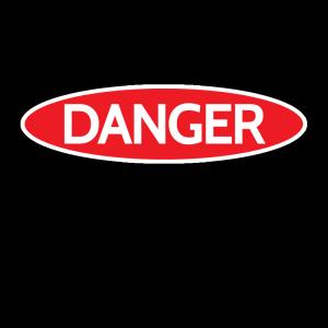 Danger: Open Flame Sign