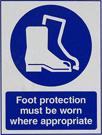 Foot protection icon