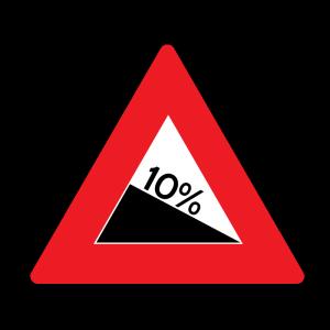 A Steep Grade Sign