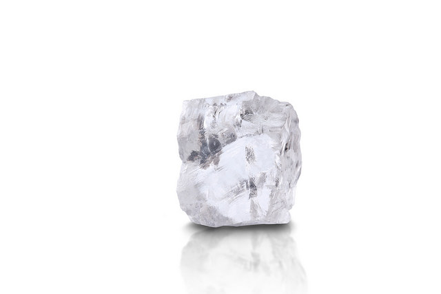 A 70 carat white rough diamond