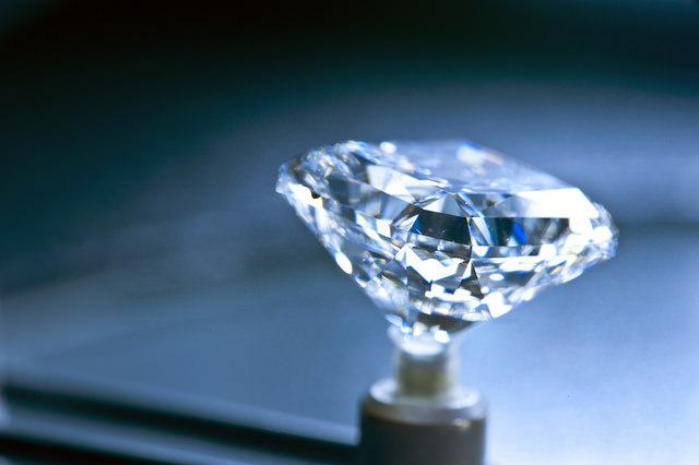 A cut diamond