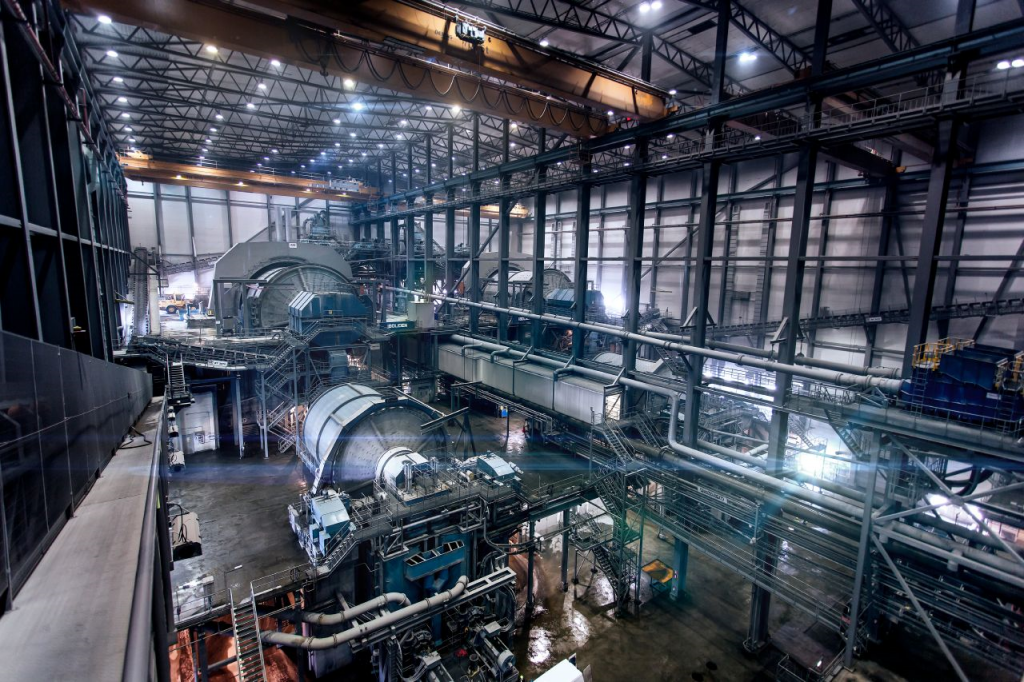 An iron ore processing plant