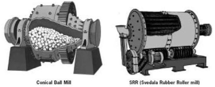 Special tumbling mills