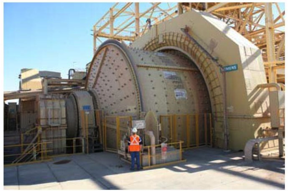 An image of a very large ball mill