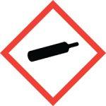 Standard Hazard Warning - Gas cylinder
