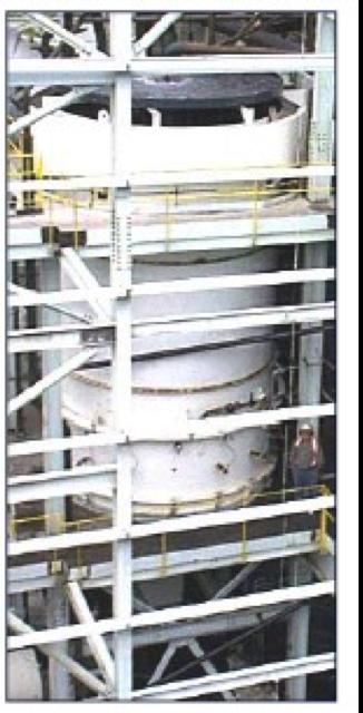 A photo of a separator column