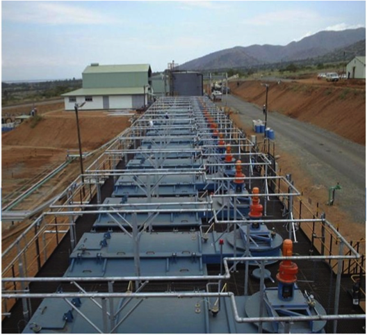A photo of solvent extraction array
