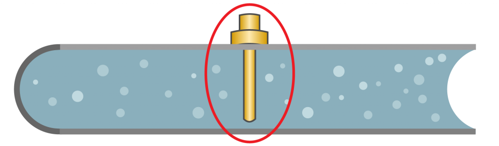 A diagram of a thermowell