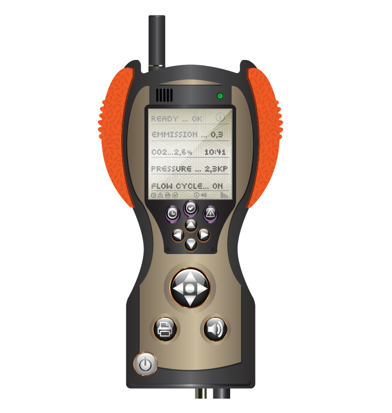 An illustration of a handheld instrument