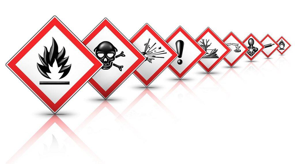 GHS hazard signs